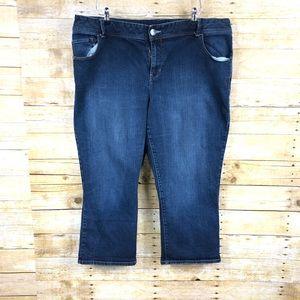 Lane Bryant Capri Jeans Sz 22